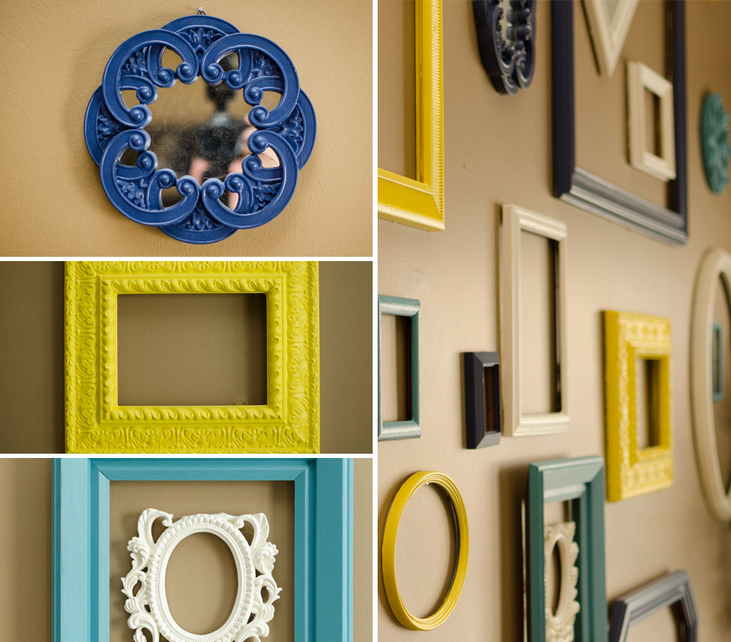 Colorful Frame Wall DIY – GoodwillIndy